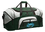 Large Blue Crab Duffle Bag Green