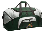 Large Peace Frogs Duffle Bag Green