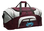 Large Blue Crab Duffle Bag Maroon