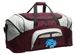 Large Dolphin Duffle Bag Maroon