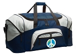 Large Peace Sign Duffle World Peace Duffel Bags