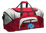 Dolphins Duffle Bag or Dolphin Gym Bags Red