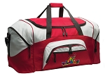 Peace Frog Duffle Bag or Peace Frogs Gym Bags Red