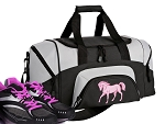 Small Horse Lover Gym Bag or Small Horse Theme Duffel