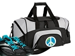 Small Peace Sign Gym Bag or Small World Peace Duffel