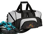 Small Peace Frogs Gym Bag or Small Peace Frog Duffel