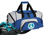 Peace Sign Small Duffle Bag Royal