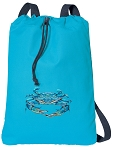 BLUE CRAB Cotton Drawstring Bag Backpacks COOL BLUE