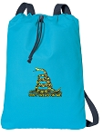 Don't Tread on Me Cotton Drawstring Bag Backpacks COOL BLUE