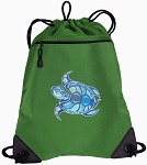 Turtle Drawstring Backpack Mesh and Microfiber