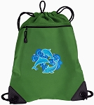 Dolphins Lover Drawstring Backpack Mesh and Microfiber