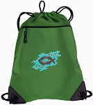 Christian Drawstring Backpack Mesh and Microfiber