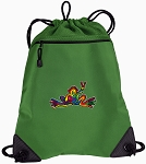 Peace Frogs Drawstring Backpack Mesh and Microfiber
