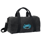 BLUE CRAB Duffel RICH COTTON Washed Finish Black