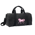Cute Horse Duffel RICH COTTON Washed Finish Black