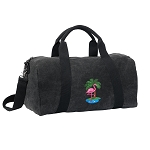 Flamingo Duffel RICH COTTON Washed Finish Black