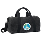 Peace Sign Duffel RICH COTTON Washed Finish Black