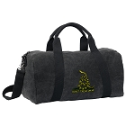 Don't Tread on Me Duffel RICH COTTON Washed Finish Black
