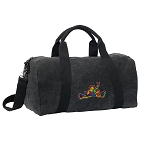 Peace Frogs Duffel RICH COTTON Washed Finish Black