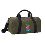 Flamingo Duffel RICH COTTON Washed Finish Khaki