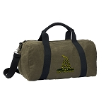 Don't Tread on Me Duffel RICH COTTON Washed Finish Khaki