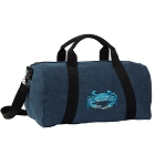 BLUE CRAB Duffel RICH COTTON Washed Finish Blue