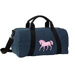 Cute Horse Duffel RICH COTTON Washed Finish Blue