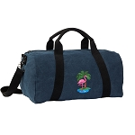 Flamingo Duffel RICH COTTON Washed Finish Blue