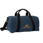 Peace Frogs Duffel RICH COTTON Washed Finish Blue