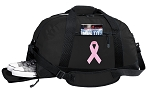 Pink Ribbon Duffel Bag with Shoe Pocket