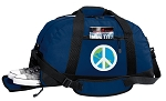 Peace Sign Duffle Bag w/ Shoe Pocket
