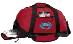 BLUE CRAB Duffel Bag with Shoe Pocket Red