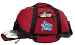 Turtle Duffel Bag with Shoe Pocket Red