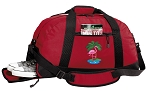 Flamingo Duffel Bag with Shoe Pocket Red