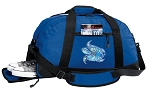 Turtle Duffel Bag with Shoe Pocket Blue