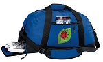 Ladybugs Duffel Bag with Shoe Pocket Blue