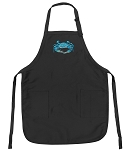 Deluxe Blue Crab Apron Black