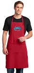 BLUE CRAB Large Apron Red