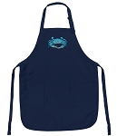 Deluxe Blue Crabs Apron Navy