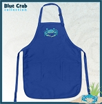 Deluxe Blue Crabs Apron Blue