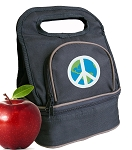 Peace Sign Lunch Bag 2 Section