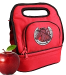 Horse Lunch Bag 2 Section Red