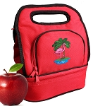 Flamingo Lunch Bag 2 Section Red