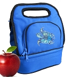 Turtle Lunch Bag 2 Section Blue