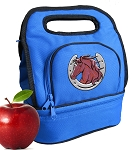 Horse Lunch Bag 2 Section Blue