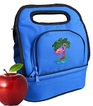 Flamingo Lunch Bag 2 Section Blue
