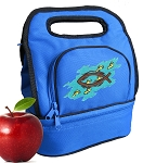 Christian Lunch Bag 2 Section Blue