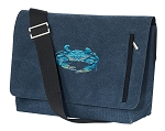 BLUE CRAB Messenger Bags STYLISH WASHED COTTON CANVAS Blue