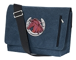Horse Messenger Bags STYLISH WASHED COTTON CANVAS Blue