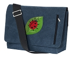 Ladybug Messenger Bags STYLISH WASHED COTTON CANVAS Blue